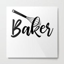 Baker Metal Print