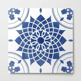 Vintage tiles illustration Metal Print