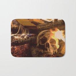 Catacomb Culture - Human Skull Fire Bath Mat
