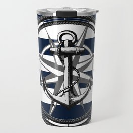 Navy Striped Nautica Travel Mug