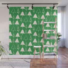 Christmas Tree Green Wall Mural