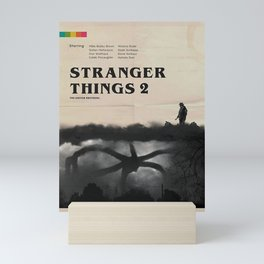 Stranger Thing 2 Vintage Mini Art Print