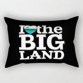 I Heart the Big Land (on black) Rectangular Pillow