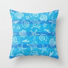 Crystal Blue Sea Throw Pillow