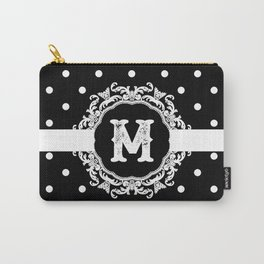 Black Monogram: Letter M Carry-All Pouch