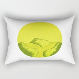 Yellow Y Path Rectangular Pillow