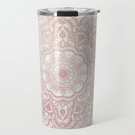 Queen Starring of Mandala-White Marble Travel Mug