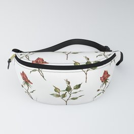 Loose Watercolor Rosebuds Fanny Pack