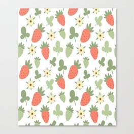 Stawberry Pattern Canvas Print