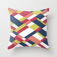 matisse Throw Pillows featuring Map Matisse by Project M