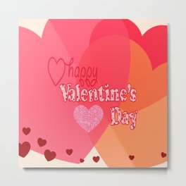 Valentine Day Hearts Metal Print
