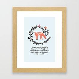 Deer & Birds Framed Art Print