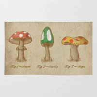 mario Area & Throw Rugs featuring Mario Mycology by Dianne Delahunty
