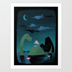 Night Falls Art Print