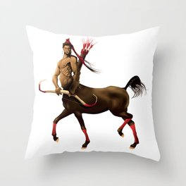 Centaur with bow and arrows. Throw Pillow