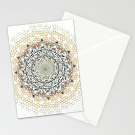 Overlapping Bee Mandala (Color) Stationery Cards