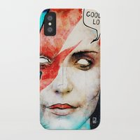 david bowie iPhone & iPod Cases featuring Ziggy Stardust/David Bowie by Ed Pires