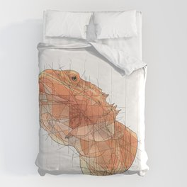 Calcifer the Bearded Dragon Comforters