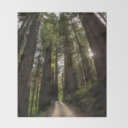 Redwoods Make Me Smile - Nature Photography Throw Blanket