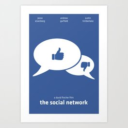 The Social Network Minimal Poster Art Print