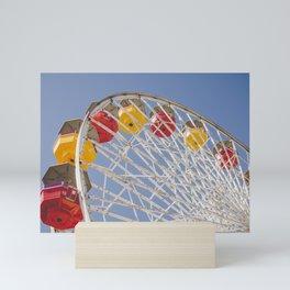 California Wheelin - Santa Monica Pier Mini Art Print