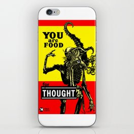 FOOD FOR THOUGHT - GMB CHOMICHUK iPhone Skin