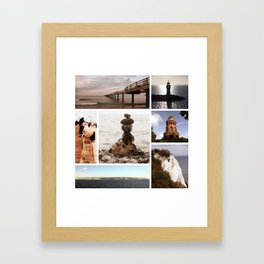 Collage of Rügen Framed Art Print