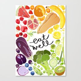 Eat Well Canvas Print