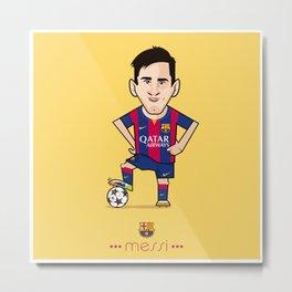 Lio Messi - Barcelona v1 Metal Print