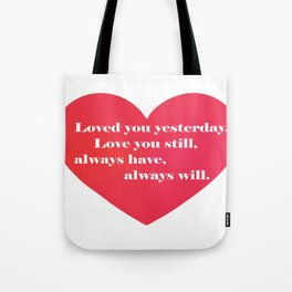 Love You Forever Tote Bag