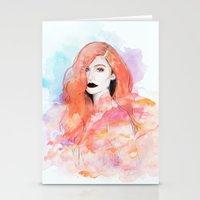 ariel Stationery Cards featuring Ariel by Sara Eshak