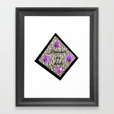 feminist as fuck diamond Framed Art Print