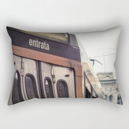 Entrance of a tram in the center of Milan Rectangular Pillow