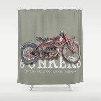 indian Shower Curtains featuring Indian by The Junkers