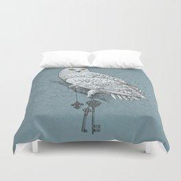 Secrets of the Snowy Owl Duvet Cover
