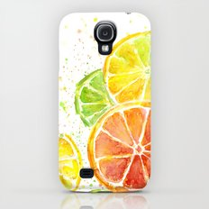 Fruit Watercolor Citrus Slim Case Galaxy S4