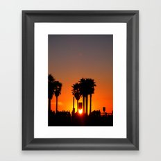 Venice Beach Sunset Framed Art Print