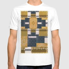 Blue Gold MEDIUM White Mens Fitted Tee