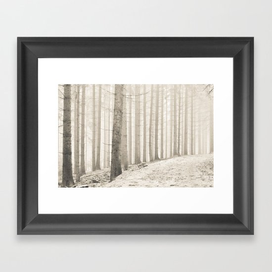 pale winter forest I Framed Art Print