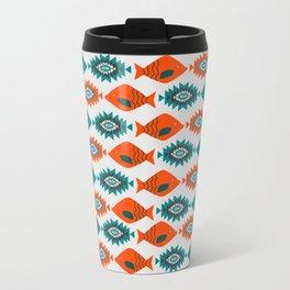 Ethnic pattern with fish Travel Mug