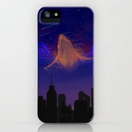 Cosmic whale iPhone Case