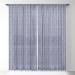 Midcentury Modern Dots Navy Sheer Curtain