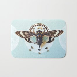 moon cicada Bath Mat