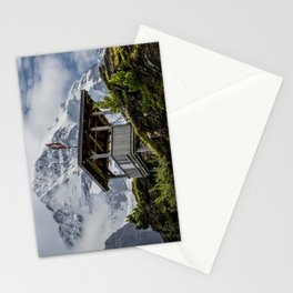 Swiss Observation Tower and Monch (Monk) Mountain - Lauterbrunnen Stationery Cards