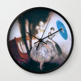 Louis Icart - Hunting - Carriage - Digital Remastered Edition Wall Clock