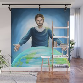 Jesus Christ Saves the World Wall Mural