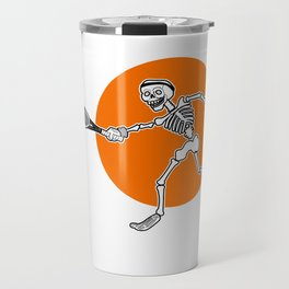 Calavera playing Tennis Travel Mug