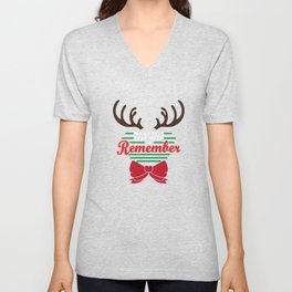 Hilarious & Joyful Xmas Tshirt Design December to remember Unisex V-Neck