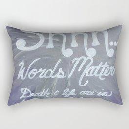 Words Matter Proverbs  Rectangular Pillow
