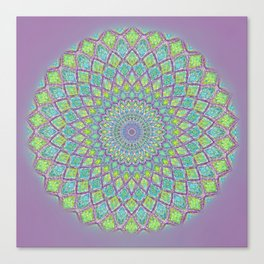 Purple Spirograph Mandala 0118 Canvas Print